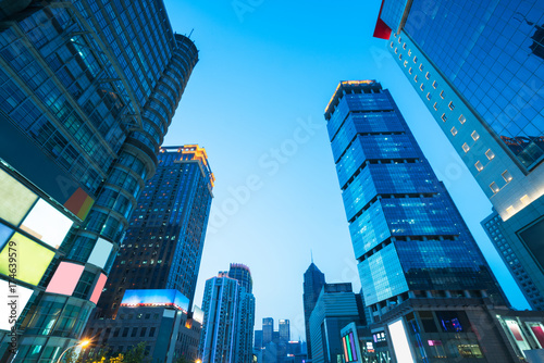 Photo  architectural complex against sky in downtown shanghai,china.
