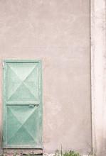Pastel Green Rustic Iron Door ...