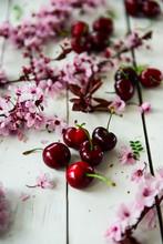 Cherries And Pink Cherries Fl...