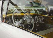 Steering Wheel Of Classic Car
