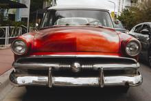Red 1950's Era Classic Car