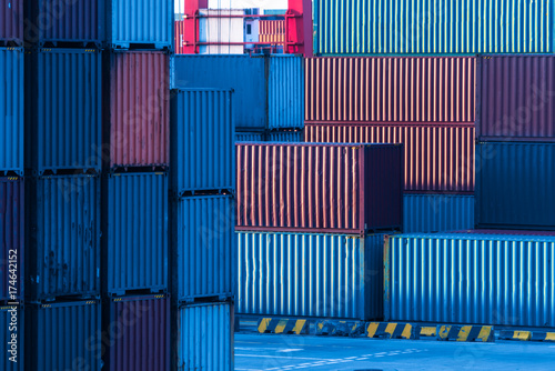 colorful containers at port,china. Wallpaper Mural