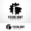 Tech Light Logo Template Design Vector, Emblem, Design Concept, Creative Symbol, Icon