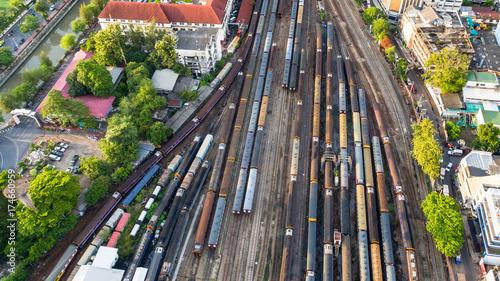 Canvas Print Aerial view