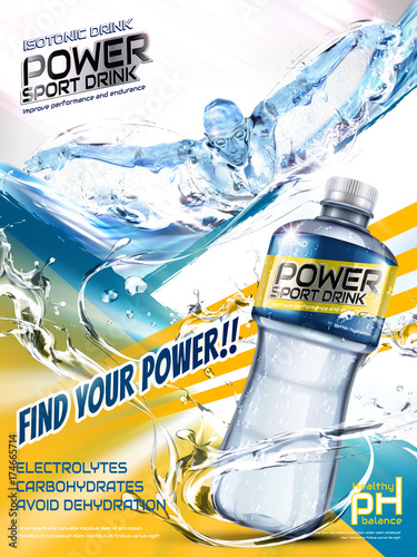 Fotografie, Obraz  Sport drink ads