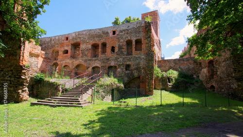 Foto op Aluminium Rudnes Ruiny pałacu zamkowego w Ząbkowicach Śląskich na Dolnym Śląsku