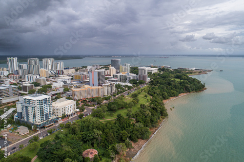 Darwin skyline, wet season Fototapete