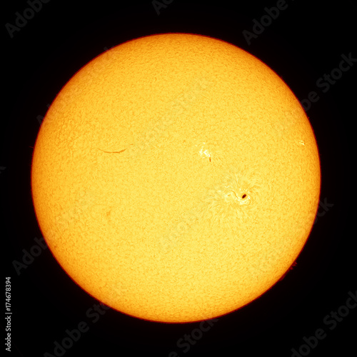 Hydrogen-alpha Sun