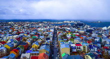 Reykjavik Iceland Skyline From Above
