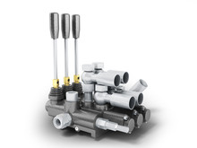 Hydraulic Distributor For Excavator 3d Render On White Background
