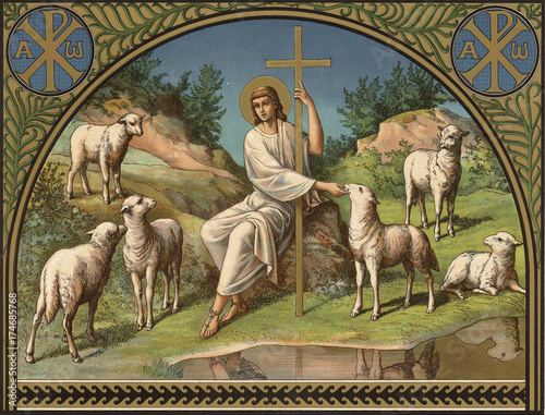 Valokuva Jesus Christ is the good shepherd.