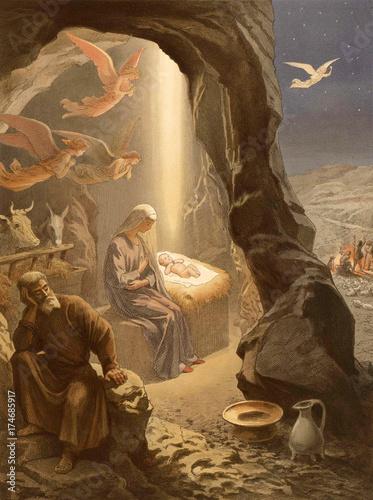 Fotografie, Obraz  The Christmas of Jesus Christ.