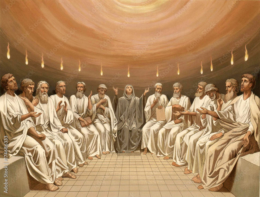 Fotografie, Obraz  Pentecost. The Descent Of The Holy Spirit.