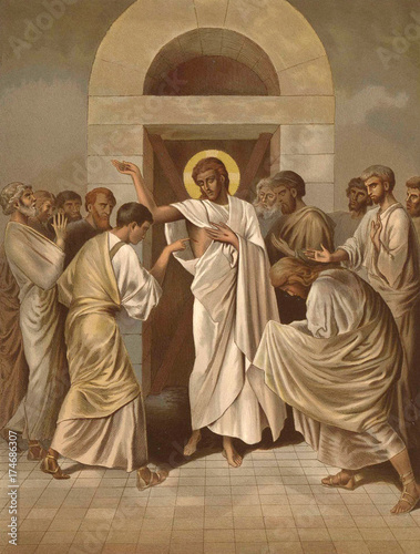 Obraz na plátně  The Unbelief Of The Apostle Thomas.