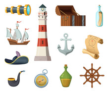 Marine Vector Objects. Chest, ...
