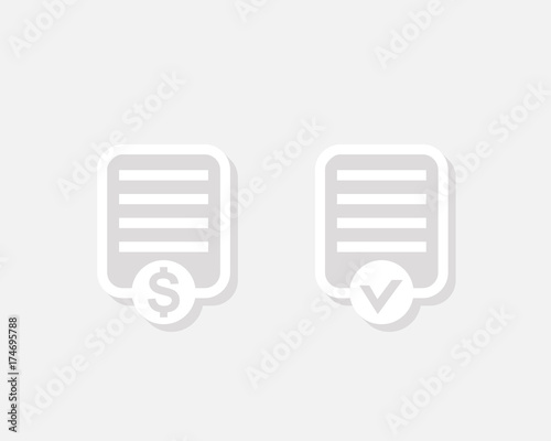 Payroll vector icon - Buy this stock vector and explore