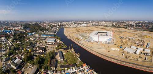 Foto op Plexiglas Stadion Aerial view of the construction
