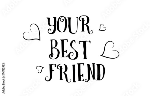 Your Best Friend Love Quote Logo Greeting Card Poster Design Buy