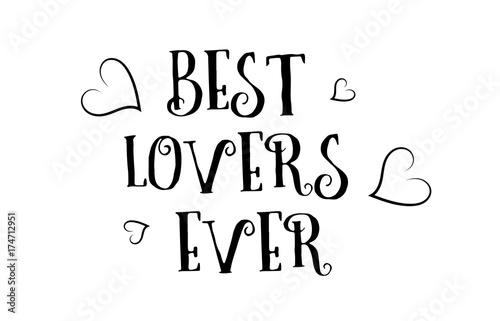 Best Lovers Ever Love Quote Logo Greeting Card Poster Design Buy