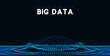 Big data visualization. Information wave technology. Futuristic abstract background of digital data