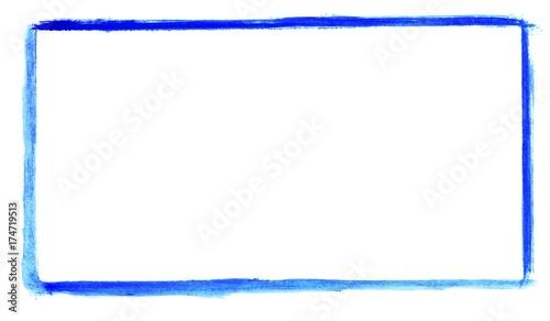 Obraz Handgemalter Rahmen aus blauer Farbe - fototapety do salonu
