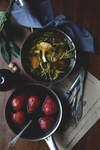 Marinated Pears And Mushrooms