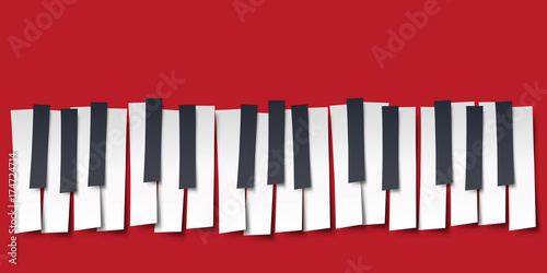 Fotografering  piano - musique - clavier - symbole - graphique - affiche - clavier de piano - f