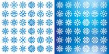 Vector Snowflakes Set On White...