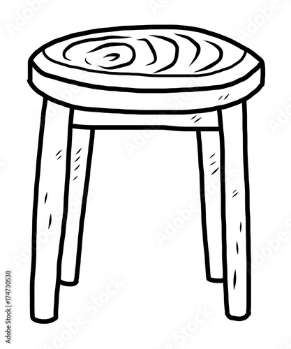Remarkable Wooden Round Chair Cartoon Vector And Illustration Black Pabps2019 Chair Design Images Pabps2019Com