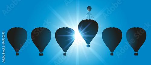 montgolfière - concept - avantage - tricher - doper - dopage - symbole - solutio Wallpaper Mural