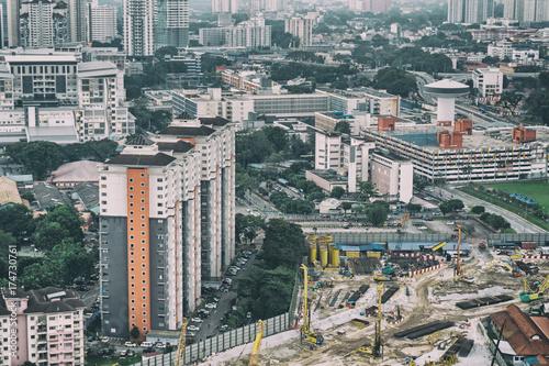 Top view of Kuala Lumpur city, Malaysia Wallpaper Mural