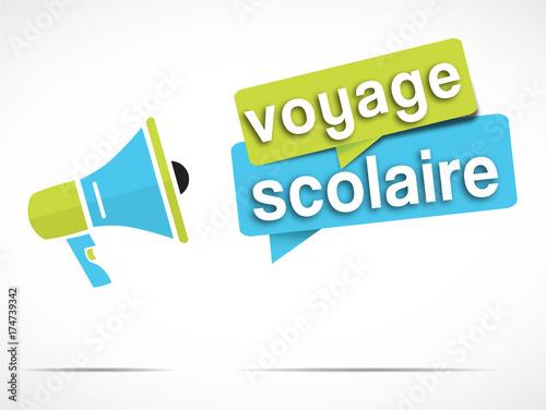 Fotografía  mégaphone : voyage scolaire