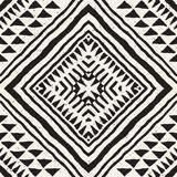 Ręcznie rysowane malowane wzór bez szwu. Wektorowy plemienny projekta tło. Motyw etniczny. Ilustracja geometryczne paski etniczne linie. Do odbitek artystycznych, tkanin, tapet, papieru do pakowania. - 174742511