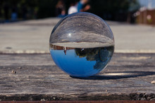 Glass Sphere In A Park