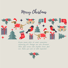 Holiday Background With Holiday Elements