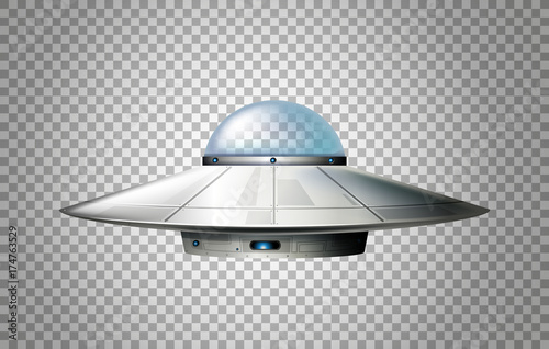 Photo UFO design with glass dome