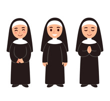 Cute Cartoon Nun Set