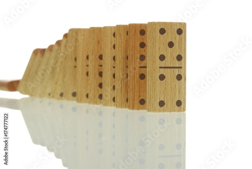 Dominoes falling, symbolic image for motion Canvas Print