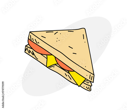 delicious sandwich cartoon hand drawn image original colorful artwork comic childish style drawing buy this stock vector and explore similar vectors at adobe stock adobe stock delicious sandwich cartoon hand drawn