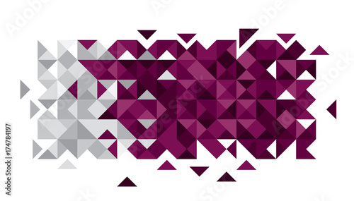 Abstract Qatar Flag, Qatari Colors (Vector Art) - Buy this