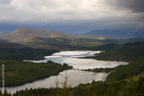 Fotografie, Obraz  Glen Garry Viewpoint Loch Garry Highlands, Scotland, United Kingdom, Europe
