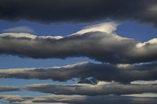 Layers Of Clouds, Morning Mood, Germany, Europe