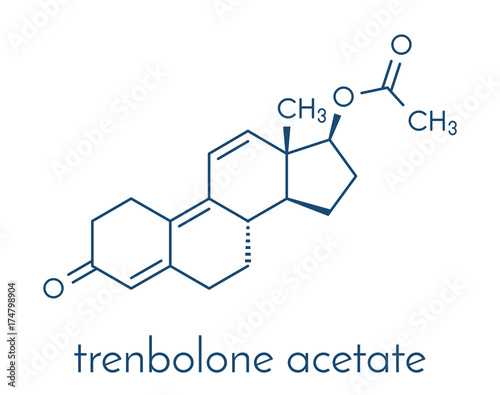 Trenbolone acetate cattle growth promoter.  Skeletal formula. Fototapeta