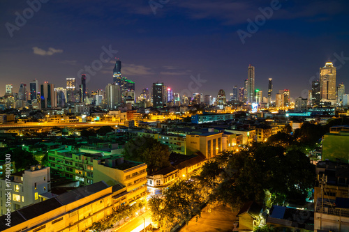 Bangkok cityscape skyline, Thailand Poster