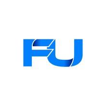 Fu Logo Initial Logo Vector Mo...