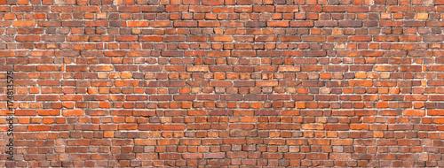 Photo sur Toile Brick wall brick wall background, red stone masonry texture