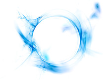 Ring Of Blue Smoke Isolated On...
