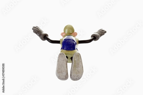 Fotografie, Tablou  Cartoon character, basejumper in a nosedive, freefall
