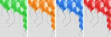 Four Background Template With Many Balloons