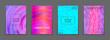 Liquid color splash covers set. Set of modern marble splatters. Design elements for poster, cover, card, brochure, banner .